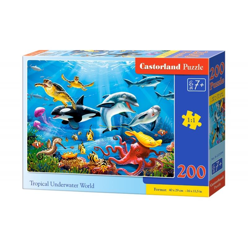 """Пазлы Тропический подводный мир, 200 элементов купить в магазине """"Пустун"""""""