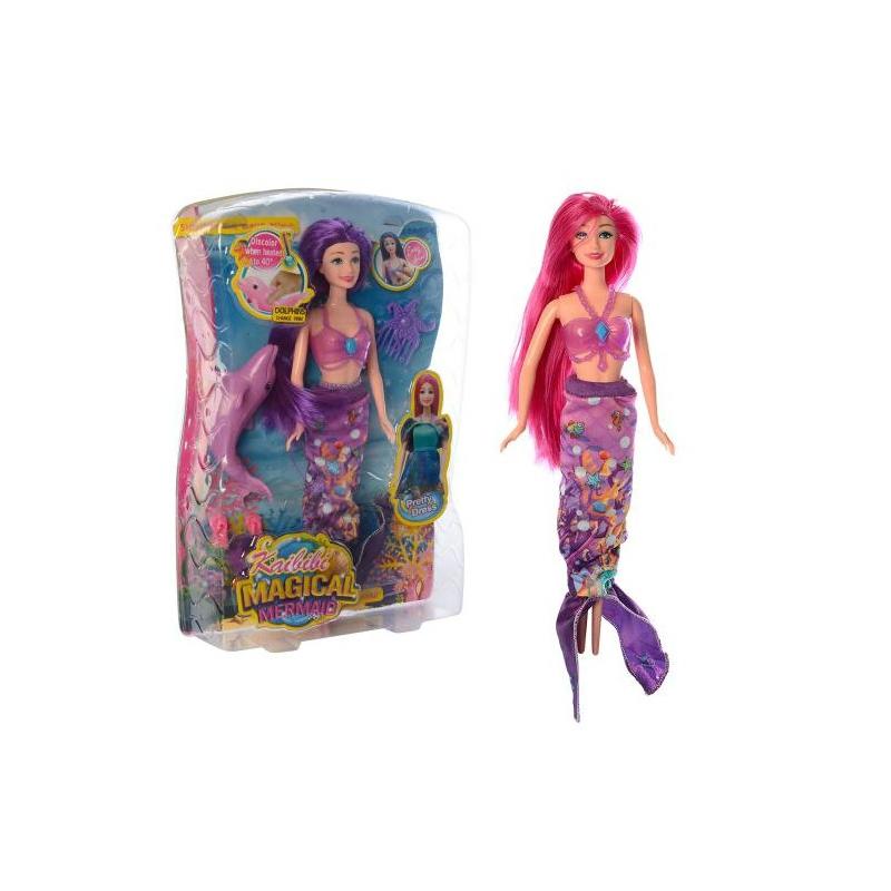 """Кукла Русалочка с дельфином меняющим цвет купить в магазине """"Пустун"""""""