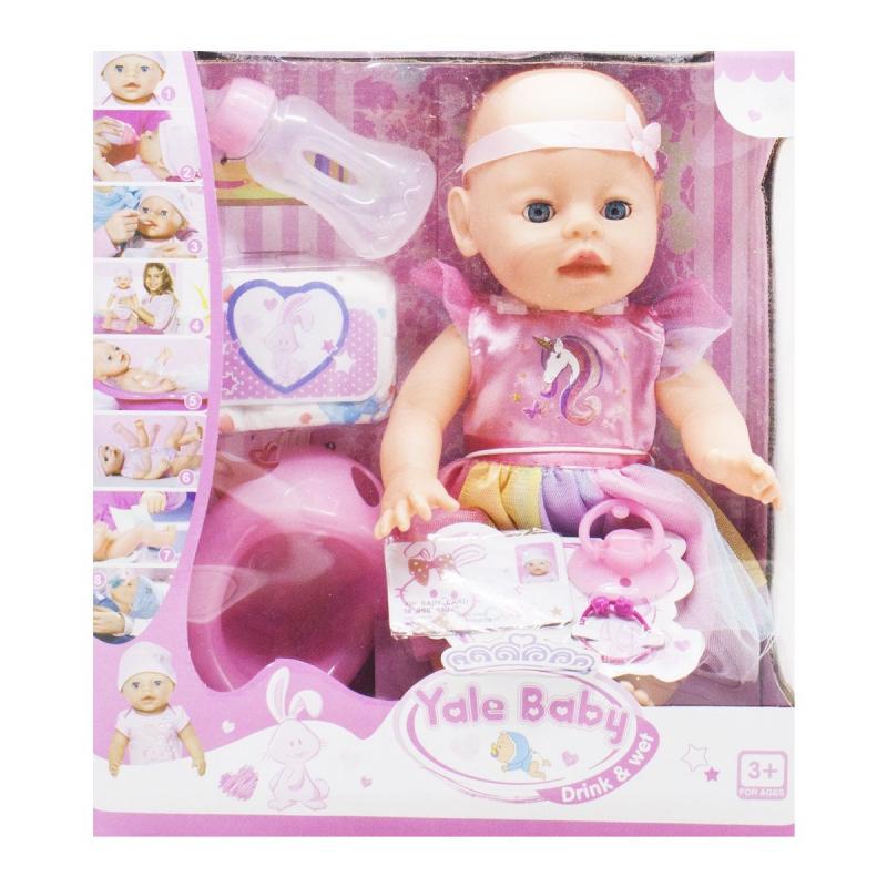 """Функциональный пупс """"Yale Baby"""" в платьице YL171219E купить в магазине """"Пустун"""""""