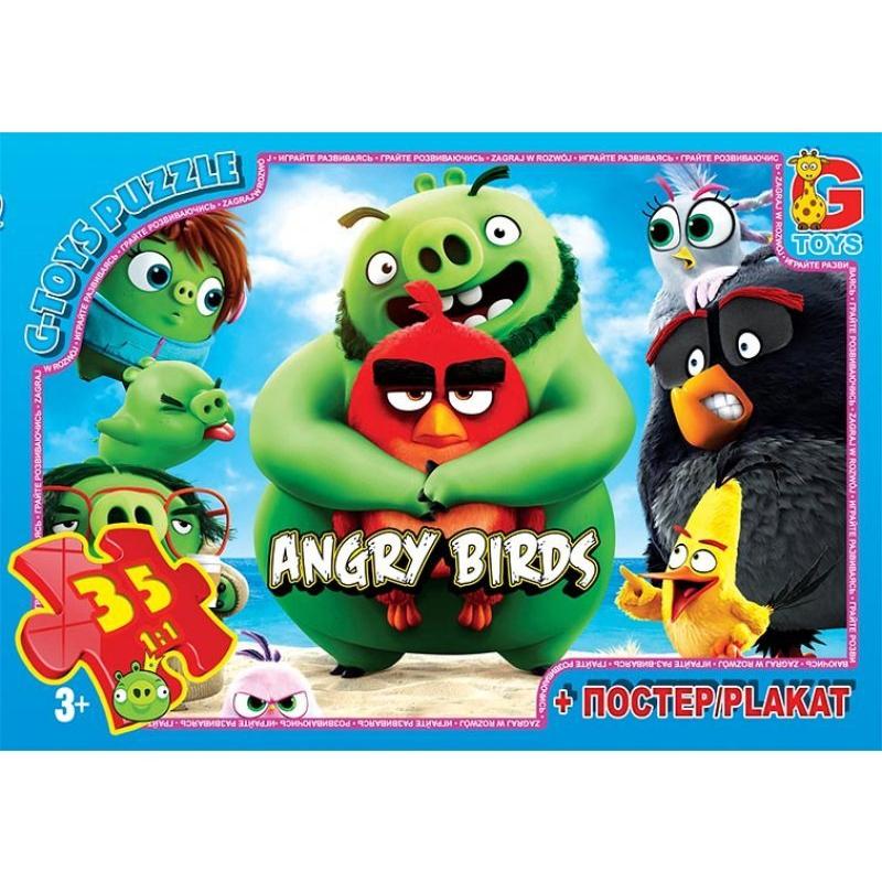 """Пазлы Angry Birds, 35 ел. купить в магазине """"Пустун"""""""