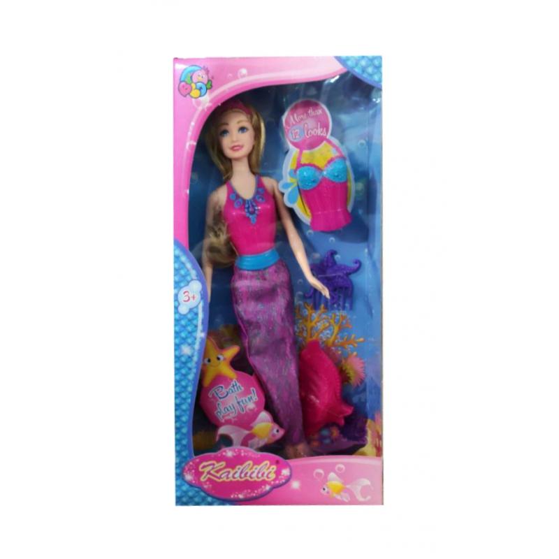 """Кукла русалка 2 в 1 Kaibibi с фиолетовым хвостом купить в магазине """"Пустун"""""""