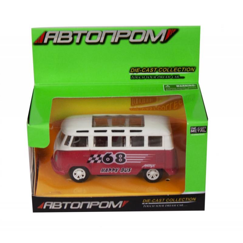 """Машинка Volkswagend Bus из серии Автопром (красная) купить в магазине """"Пустун"""""""