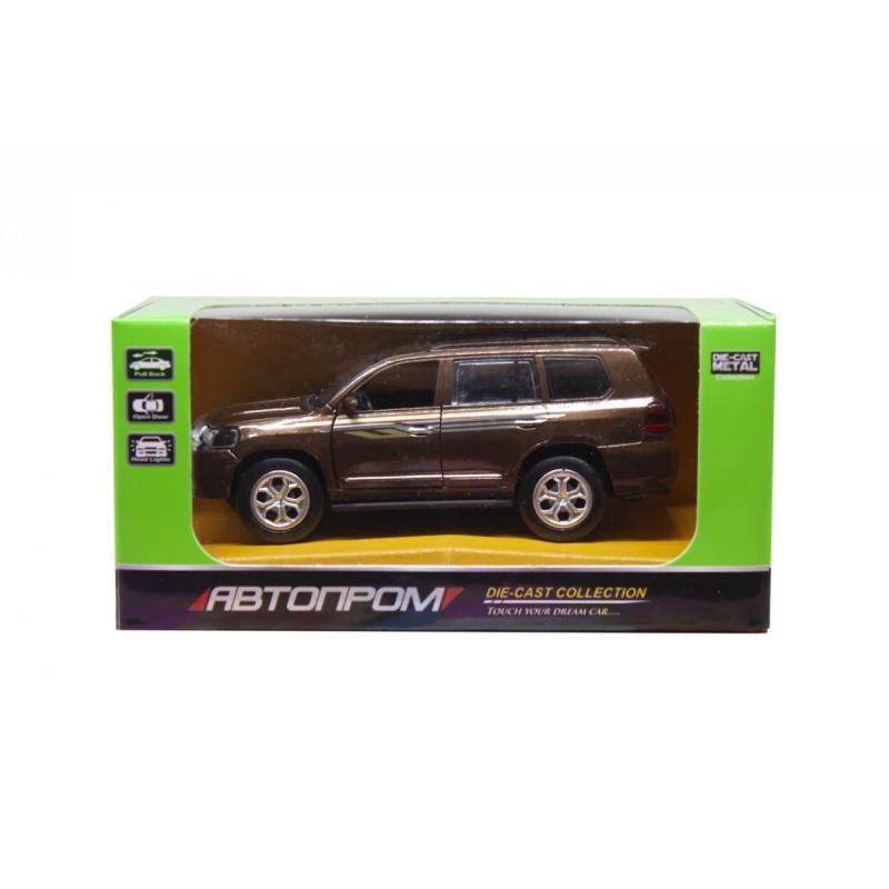 """Машинка Toyota Land Cruiser из серии Автопром (коричневая) купить в магазине """"Пустун"""""""