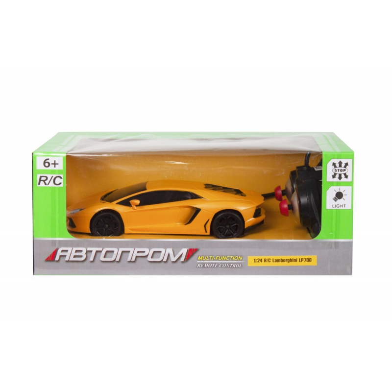 """Машинка на радоуправлении Lamborghini LP700 из серии Автопром желтая купить в магазине """"Пустун"""""""