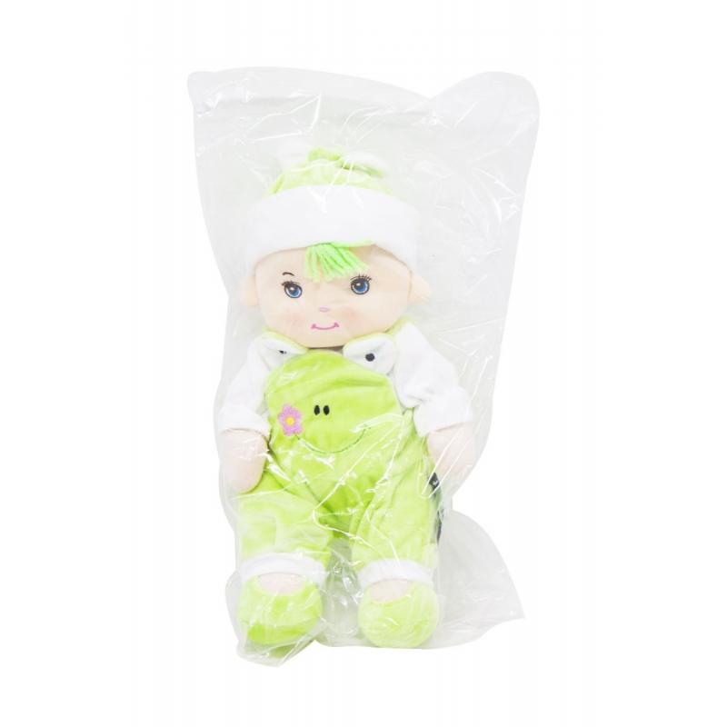 """Кукла плюшевая в комбинезоне желтый купить в магазине """"Пустун"""""""