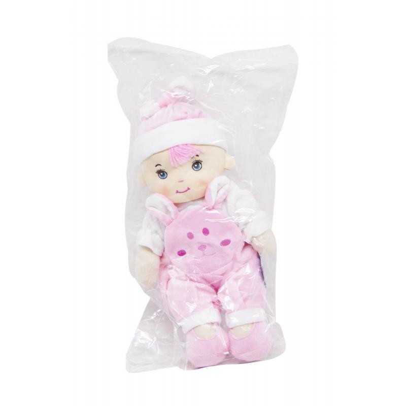 """Кукла плюшевая в комбинезоне (розовый) купить в магазине """"Пустун"""""""