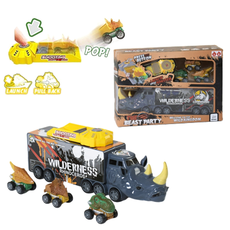 """Набор машин The Beast Party: Носорог (серый) купить в магазине """"Пустун"""""""