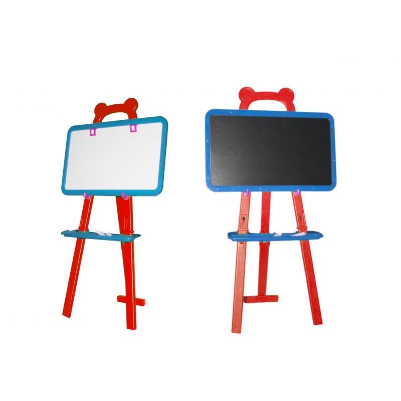 """Детский мольберт 2 в 1 (красный) KW-51-001 купить в магазине """"Пустун"""""""