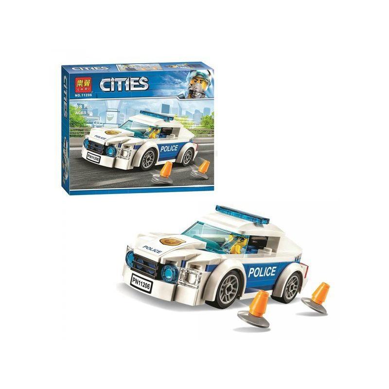 """Конструктор CITIES: автомобиль полицейского патруля (98 деталей) купить в магазине """"Пустун"""""""