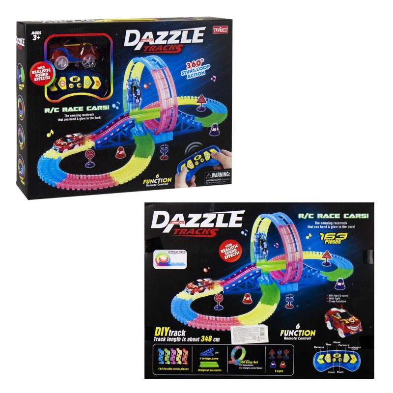 """Автотрек """"Dazzle Tracks"""" 163 деталей 132 купить в магазине """"Пустун"""""""