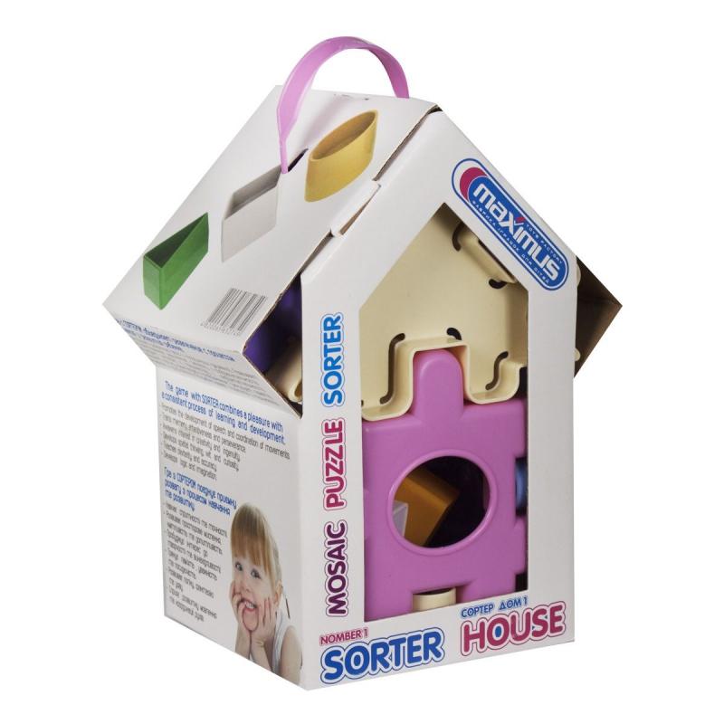 """Сортер Дом для принцессы (розовый) купить в магазине """"Пустун"""""""