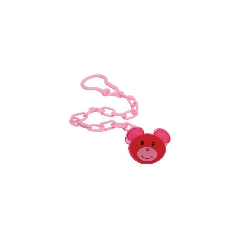 """Клипса для пустушки """"Мишенок"""" (розовый) РК 221 купить в магазине """"Пустун"""""""