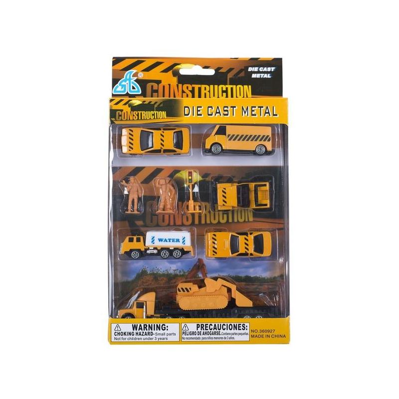 """Игрушечный набор мини машинок Construction 10 элементов купить в магазине """"Пустун"""""""