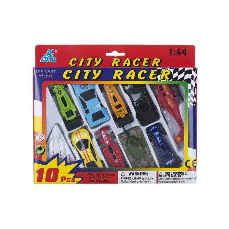 """Игрушечный набор техники CITI RACER 10 элементов купить в магазине """"Пустун"""""""