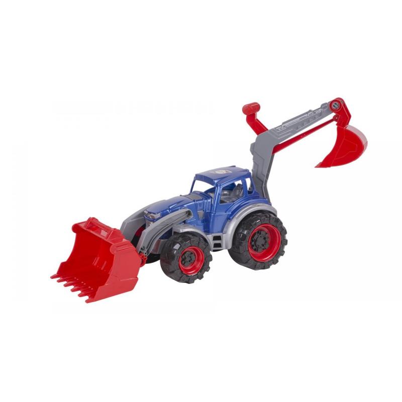 """Трактор погрузчик-экскаватор (синий) 322 купить в магазине """"Пустун"""""""