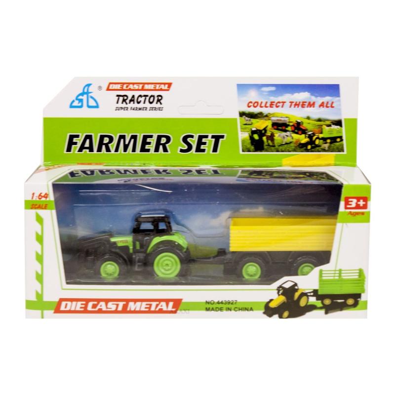 """Игрушечный набор Трактор (зеленый) купить в магазине """"Пустун"""""""