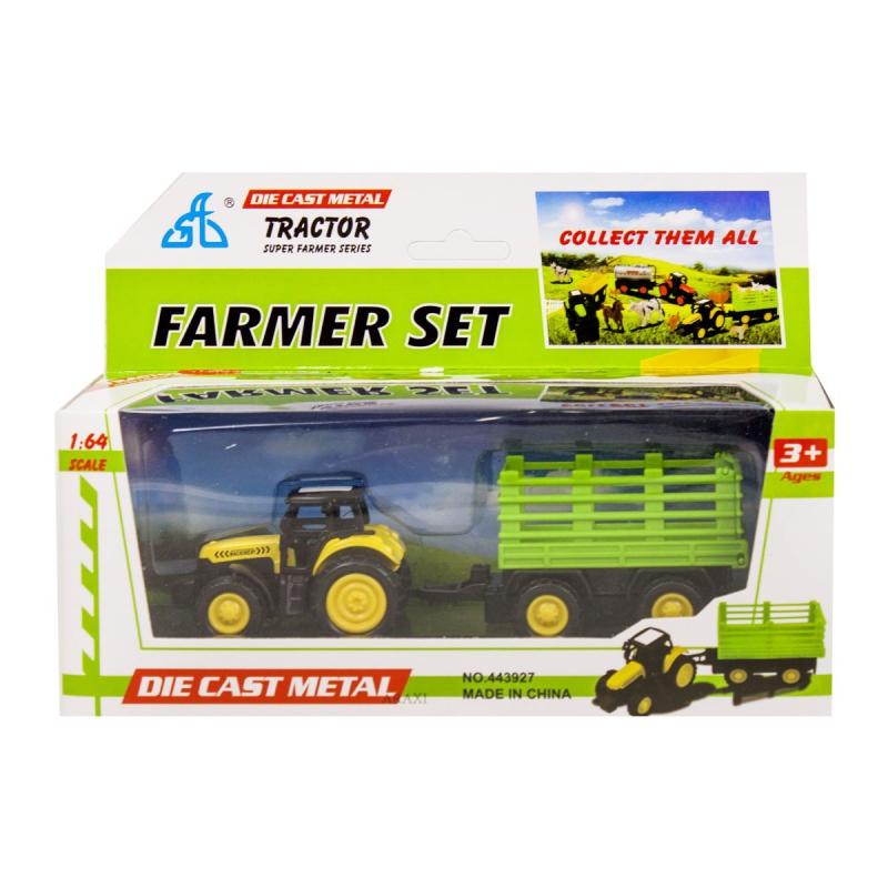 """Игрушечный набор Трактор (желтый) купить в магазине """"Пустун"""""""