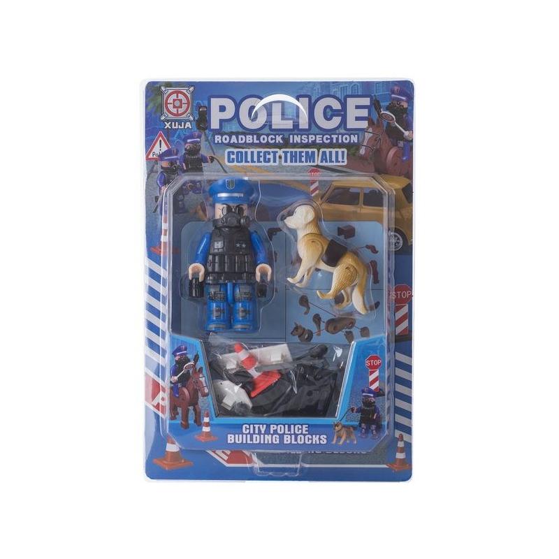 """Игрушечный набор """"Police Roadblock Inspection"""" с собакой SB1012 купить в магазине """"Пустун"""""""