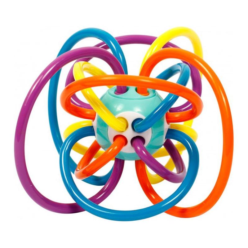 """Погремушка для детей """"Кольца"""" (фиолетовый) Б 413 купить в магазине """"Пустун"""""""
