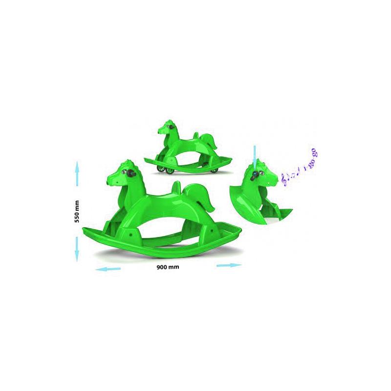 """Лошадка-качалка музыкальная (зеленый) 05550/4 купить в магазине """"Пустун"""""""