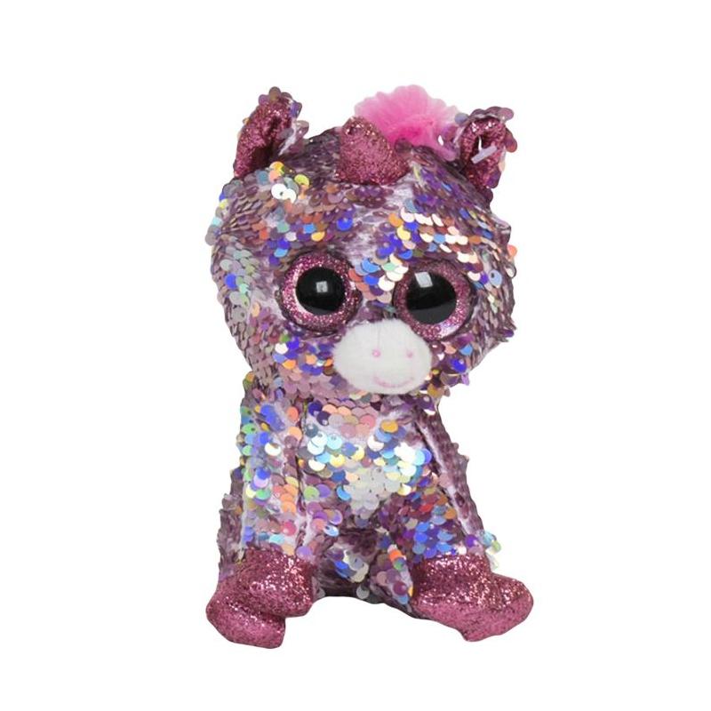 """Мягкая игрушка Глазастик Единорог розовый купить в магазине """"Пустун"""""""