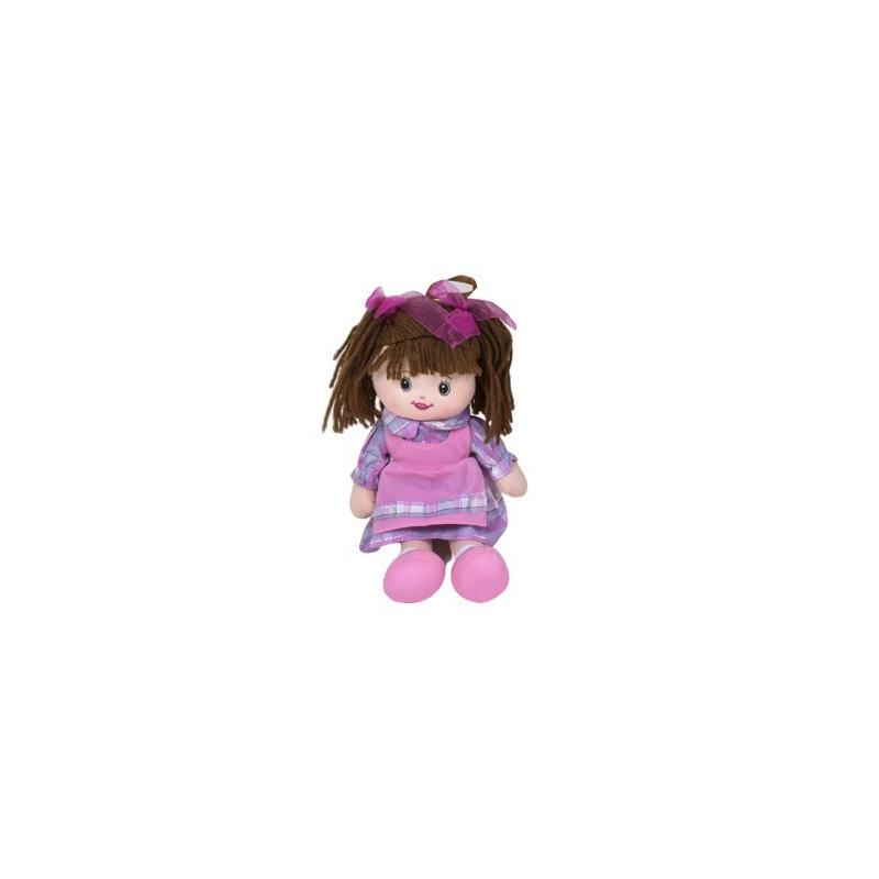 """Кукла мягкая с бантиками (фиолетовый) купить в магазине """"Пустун"""""""