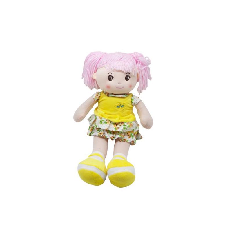 """Кукла мягкая с хвостиками желтый купить в магазине """"Пустун"""""""