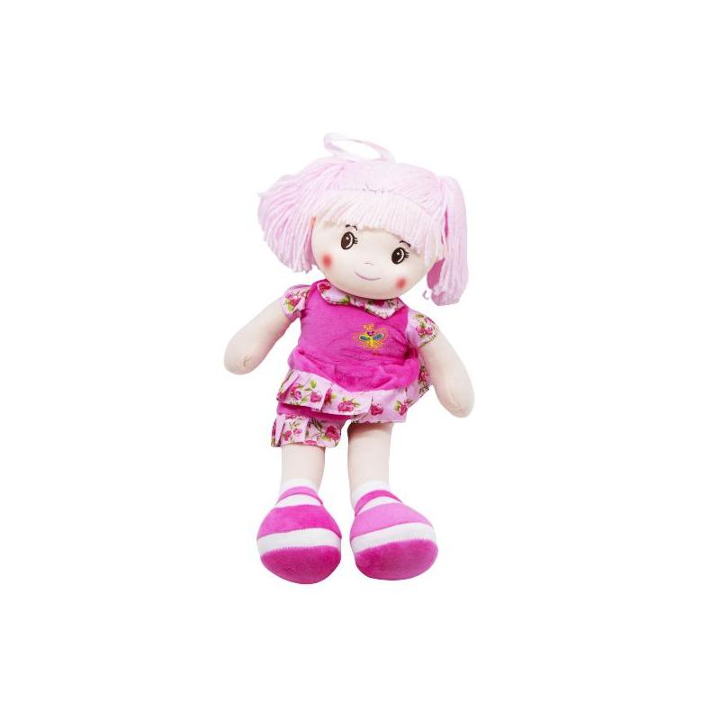 """Кукла мягкая с хвостиками (малиновый) купить в магазине """"Пустун"""""""