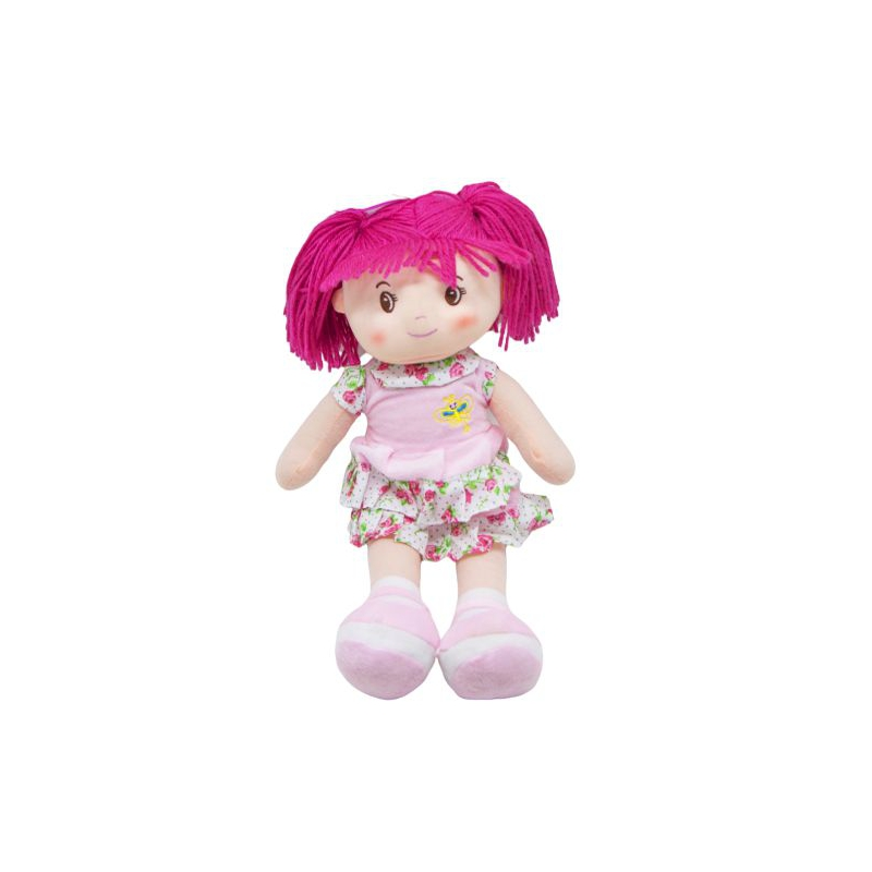 """Кукла мягкая с хвостиками розовый купить в магазине """"Пустун"""""""