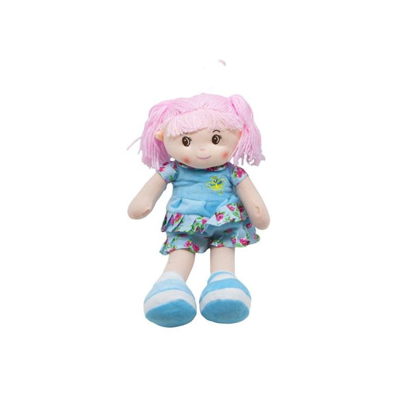 """Кукла мягкая с хвостиками голубой купить в магазине """"Пустун"""""""