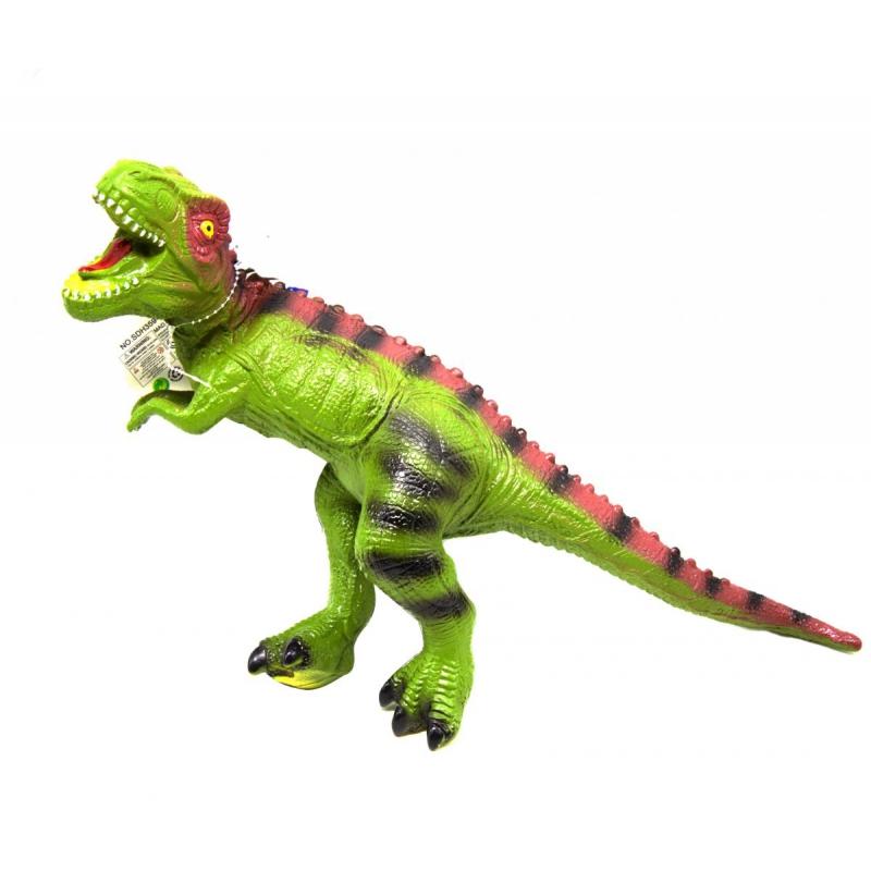 """Динозавр резиновый """"Аллозавр"""" со звуком (зеленый) SDH359-40/42 купить в магазине """"Пустун"""""""