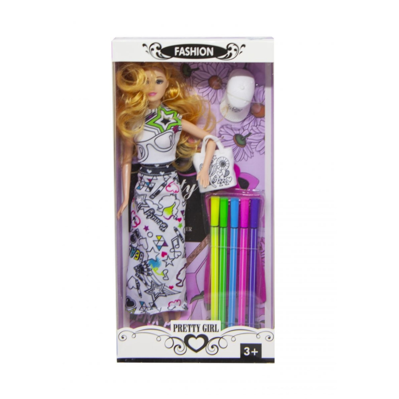 """Кукла  раскраской 587A/C купить в магазине """"Пустун"""""""