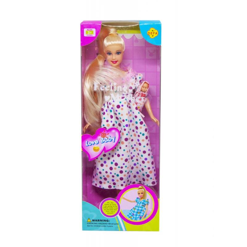 """Кукла Defa Беременная платье в горошок купить в магазине """"Пустун"""""""