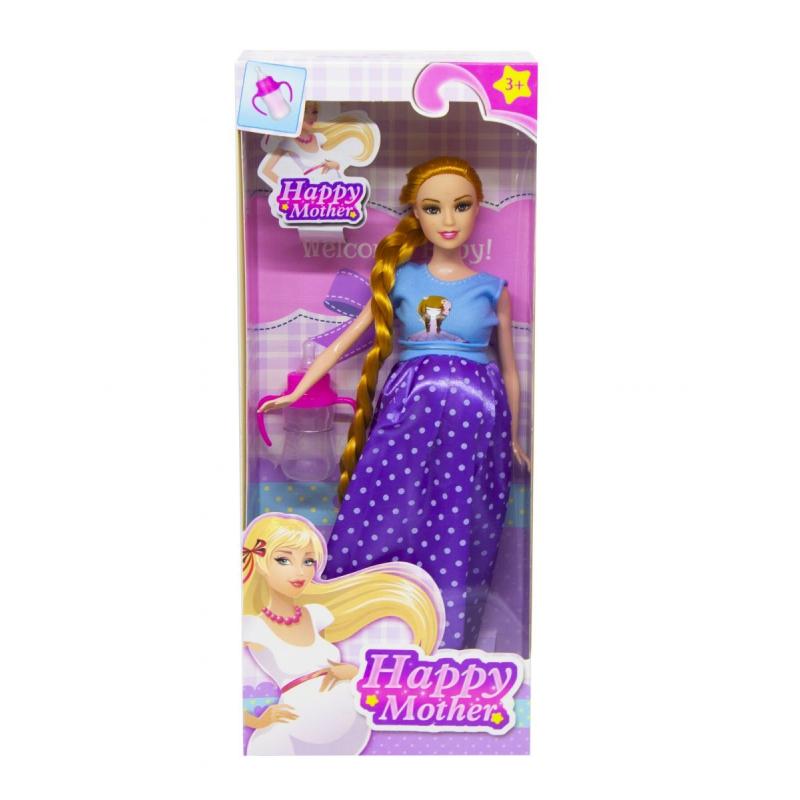 """Кукла Счастливая мама платье в горошек купить в магазине """"Пустун"""""""