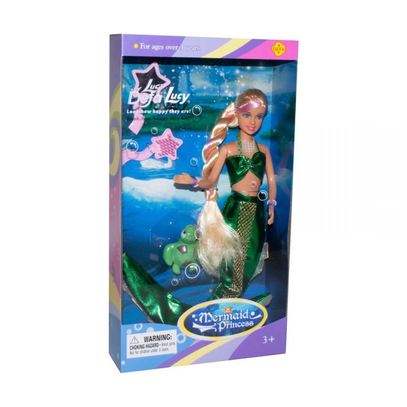 """Кукла Defa: Русалка с питомцем (зелёная) купить в магазине """"Пустун"""""""