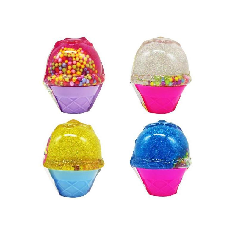 "Лизун-антистресс Mr. Boo: Мороженое, глиттер и шарики, 70 г купить в магазине ""Пустун"""