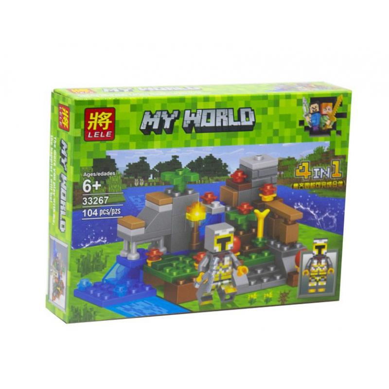 """Конструктор Minecraft My World: Водная ферма 104 детали купить в магазине """"Пустун"""""""