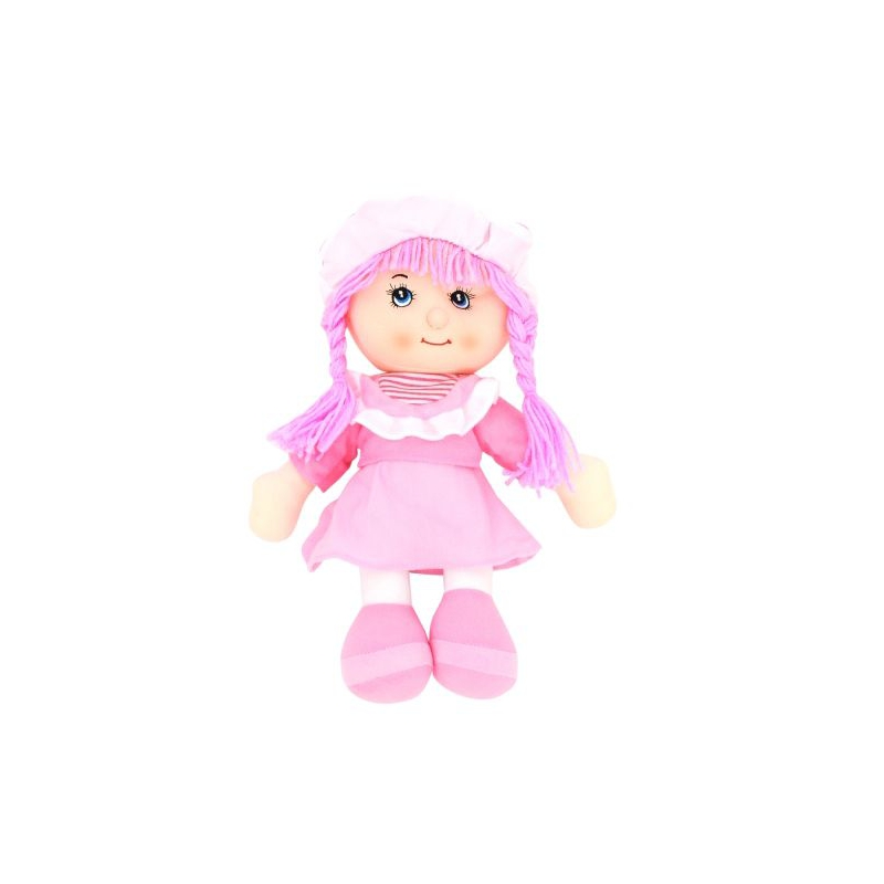 """Кукла мягкая в шляпке (розовый) купить в магазине """"Пустун"""""""