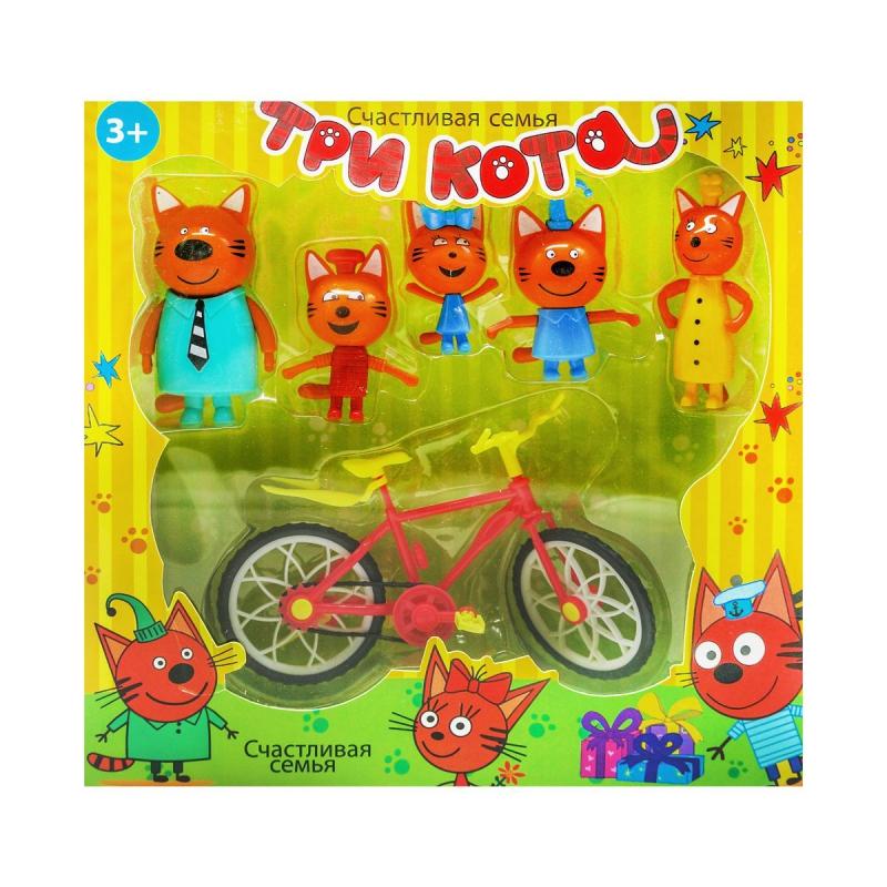 """Набор фигурок """"Три кота: Велопрогулка"""" E117 купить в магазине """"Пустун"""""""