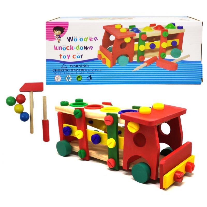 """Конструктор машинка """"Wooden Toy Car"""" Д033у купить в магазине """"Пустун"""""""