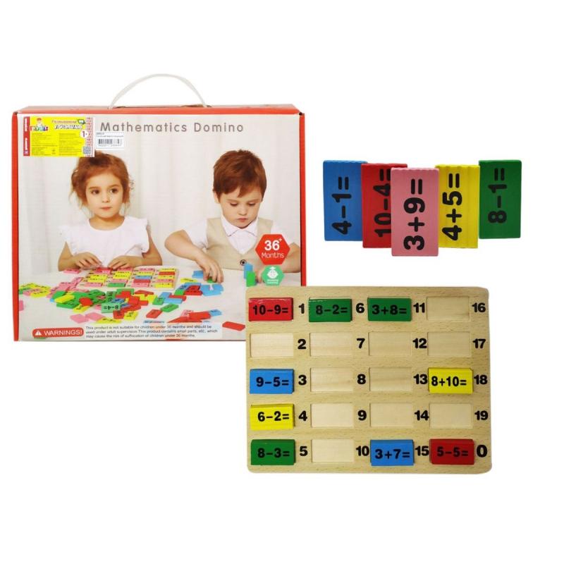"""Логическо-математическая игра """"Mathematics Domino"""" Д655у-5 купить в магазине """"Пустун"""""""