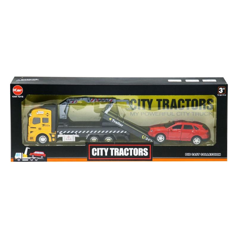 """Эвакуатор City Tractors (оранжевый) купить в магазине """"Пустун"""""""