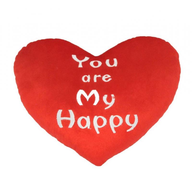 "Подушка-валентинка TIGRES You are my Happy (ПД-0277) купить в магазине ""Пустун"""