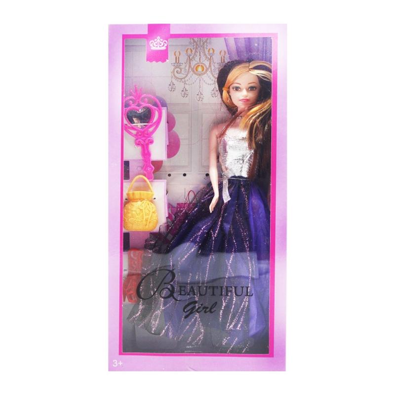"""Кукла с аксессуарами (фиолетовиый) купить в магазине """"Пустун"""""""
