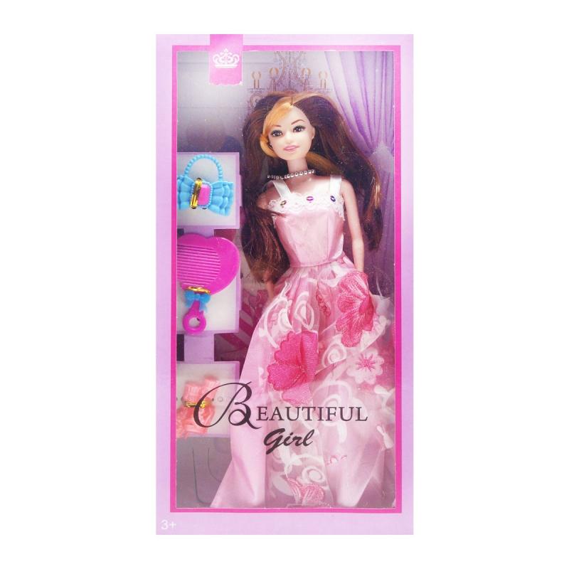 """Кукла с аксессуарами (розовый) купить в магазине """"Пустун"""""""