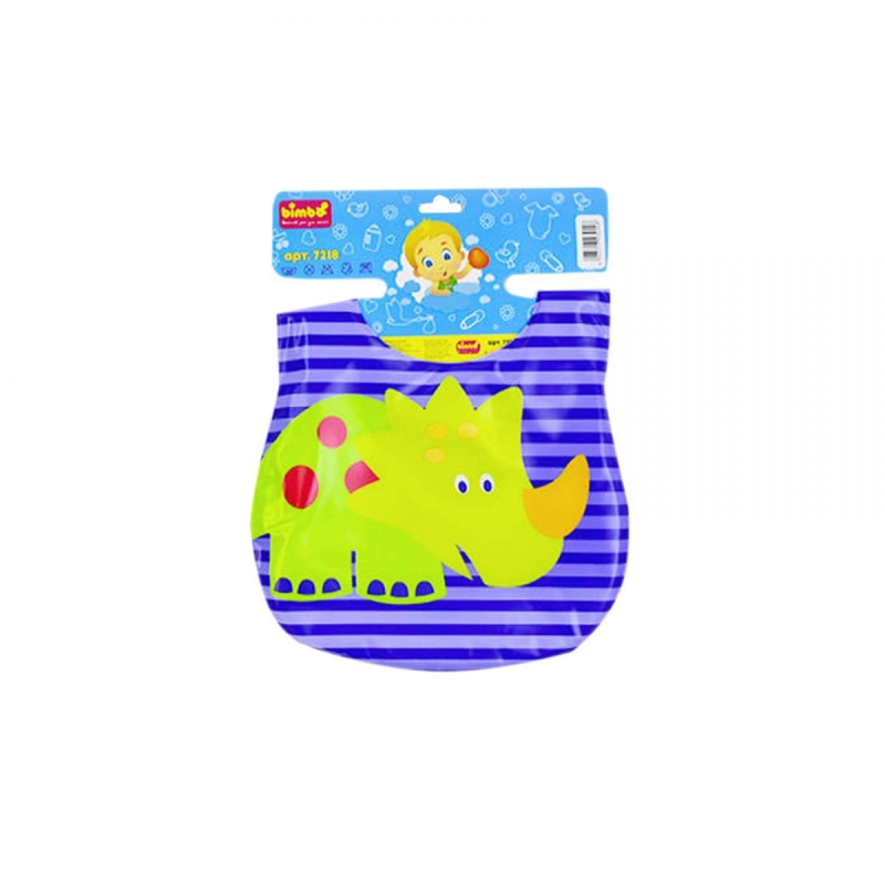 """Слюнявчик """"Динозавр зеленый"""" 7218 купить в магазине """"Пустун"""""""