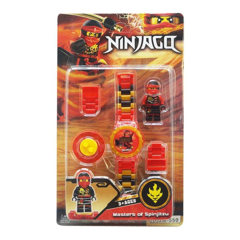 """Детский набор Ninjago с часами красный купить в магазине """"Пустун"""""""