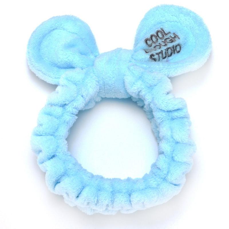 """Плюшевая повязка """"Cool"""" (голубой) BA1055 купить в магазине """"Пустун"""""""