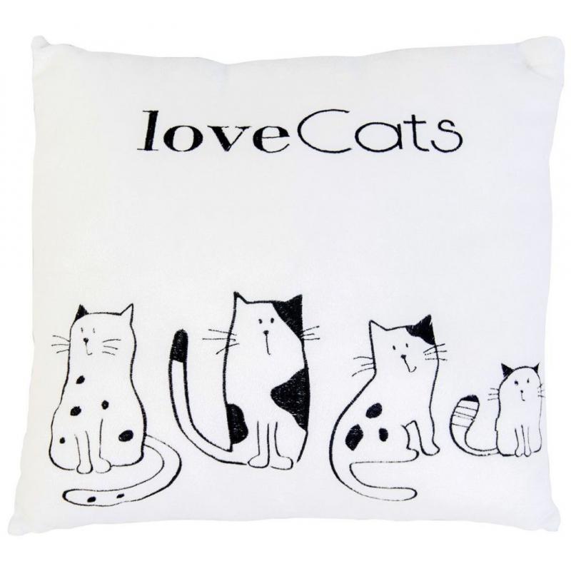"""Подушка Love cats купить в магазине """"Пустун"""""""
