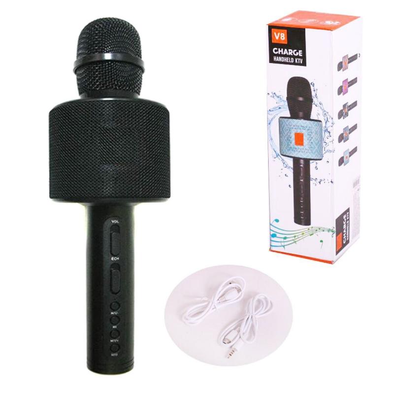 """Беспроводной караоке микрофон CHARGE V8 с Bluetooth (черный) купить в магазине """"Пустун"""""""